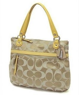 com Coach Poppy Metallic Sateen Glam Tote 18979 (SV/Moonlight) Shoes