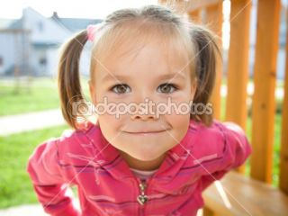 Cute little girl on playground  Stock Photo © Сергей