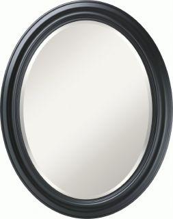 Zhivago Black Oval Beveled Mirror