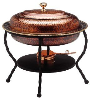 Old Dutch 161/2x121/2x18 Oval Antique Copper Chafing