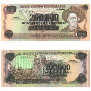 Nicaragua ND (1990) 200,000 Cordobas, Pick 162 Everything Else