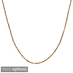 Fremada 10k Pink, White or Yellow Gold Box Chain (18 inch) Today $54