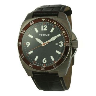 Trump Mens Classic Brown Quartz Watch