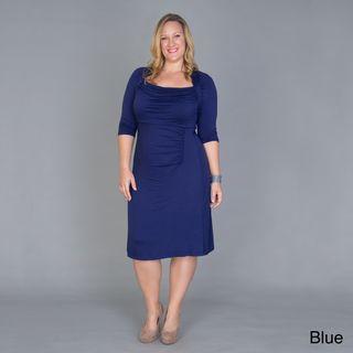 Womens Plus Size Stella Draped Dress