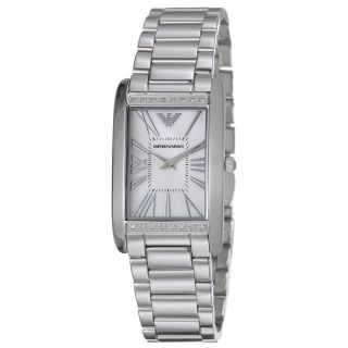 Emporio Armani Womens Slim Mother of Pearl Dial Quartz Watch Today