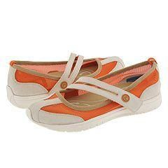 Rockport Rosella Orange Crush/Chalk/Dusty Tan Washable Suede And Mesh