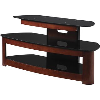 Office Star Products 49 in Wood and Glass TV Stand