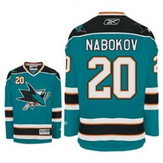 NABOKOV #20 San Jose Sharks RBK Premier NHL Hockey Jersey