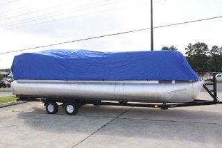 BRAND NEW *BLUE* ULTRA PONTOON BOAT COVER, BEST AVAILABLE