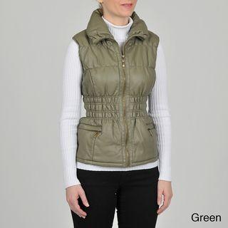 Montanaco Womens Faux Leather Vest