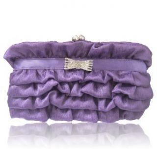 169 purple Satin Evening Prom Wedding Handbag bag purse