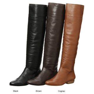Victoire Womens Valerie Leather Knee high Boots