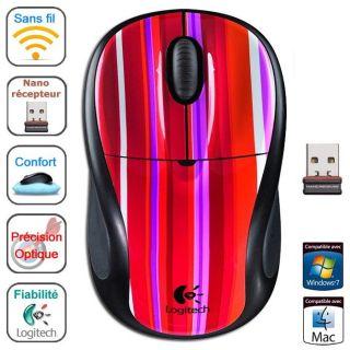 Logitech Wireless Mouse M305 Sassy Stripe   Achat / Vente SOURIS