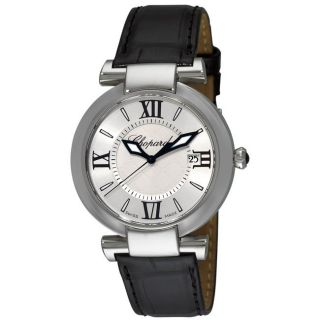 Chopard Womens Imperiale Black Leather Strap Watch