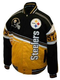 NFL Mens Pittsburgh Steelers 1st and 10 Cotton Twill
