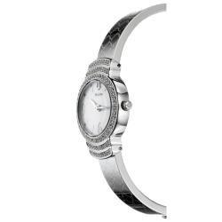 Bulova Womens Crystal Stainless Steel Quartz Crystal Watch