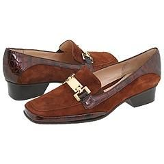 Amalfi by Rangoni Frizzy Legno Suede/Dark Brown Croc Patent Loafers