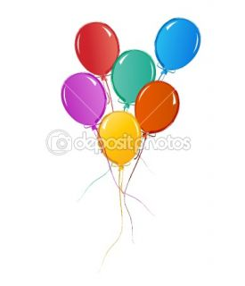 Balloons for birthday or celebration  Vector Stock © soleilc