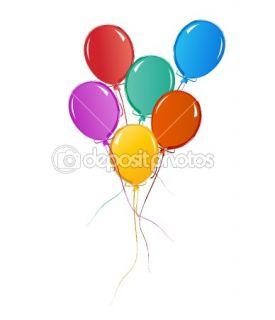 Balloons for birthday or celebration  Vector Stock © soleilc