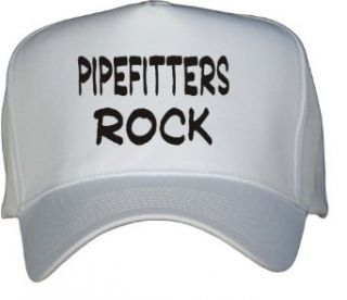 Pipefitters Rock White Hat / Baseball Cap Clothing