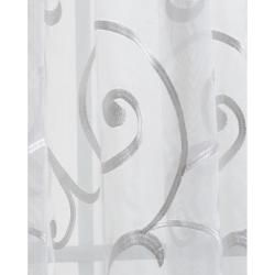 Bleuit Floral White Embroidered Organza 108 inch Sheer Curtain Panel