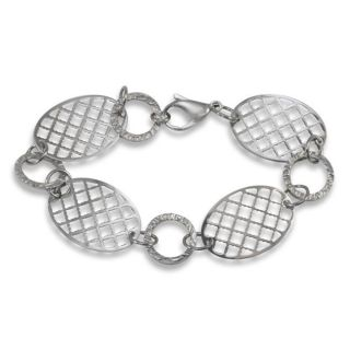 Stainless Steel Four disc Honeycomb Pattern Cut out Bracelet
