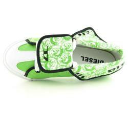 Diesel Womens BN 210 H Green/White Sneakers