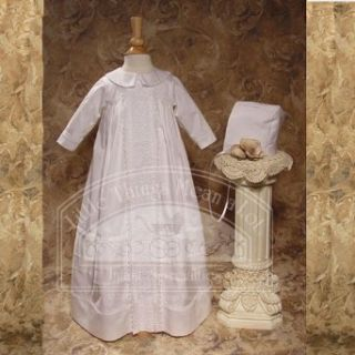 Baby Boys White Lace Bishop Christening Baptism Outfit