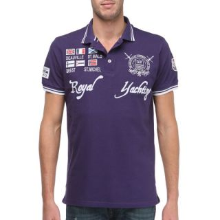 GEOGRAPHICAL NORWAY Polo Homme Violet Violet   Achat / Vente POLO