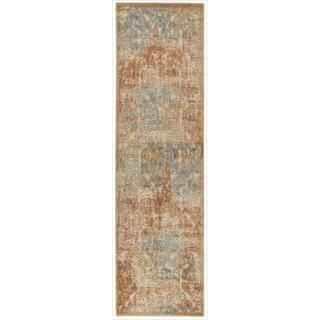 Graphic Illusions Light Gold Antique Damask Rug (23 x 80
