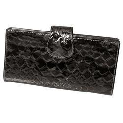 Hailey Jeans Co. Womens Shiny Snakeskin Print Clutch Wallet