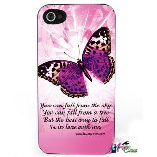 Apple Iphone 4/4s Hard Case Love Pink Butterfly