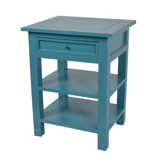 Newton Sky Blue Mahogany One Drawer Side Table