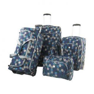 Olympia Sapphire 4 Piece Luggage Set (Blue) Sports