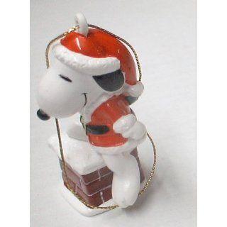 Vintage Peanuts PVC Figure Christmas Ornament  Snoopy w