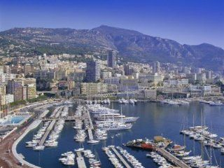 View Over the Harbour and City, Monte Carlo, Monaco, Cote