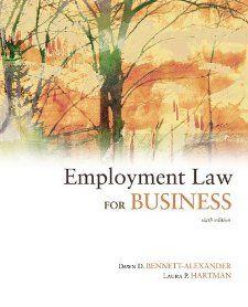Employment Law for Business Dawn Bennett Alexander, Laura Hartman