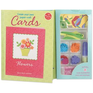 Create Your Own Paper Craft Cards Book Kit Flowers