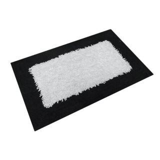 TAPIS 60x110 cm NICOLAS NOIR ET BLANC 100% COTON   Achat / Vente TAPIS