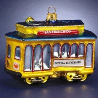 Pack of 3 Polonaise Glass San Francisco Cable Car