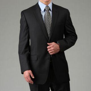 MICHAEL Michael Kors Mens Charcoal Stripe Wool Suit