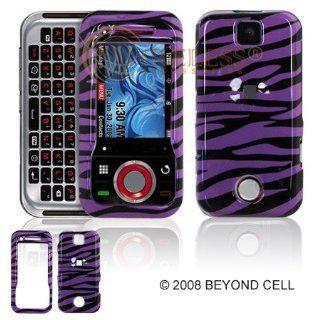 Purple Zebra Phone Case for Motorola Rival A455 Verizon