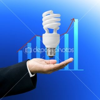Save electricity,Lighting business concept  Stock Photo © Patipat