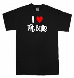 I Heart Love Pit Bulls   Happy Valentines Day Greetings