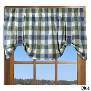 Plymouth Plaid 21 inch Valance with Button Straps