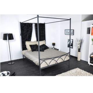 SWEET Lit 140x190 + Baldaquin noir   Achat / Vente CHAMBRE COMPLETE
