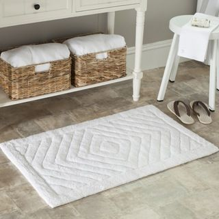 Spa 2400 Gram Diamonds White Bath Mats (Set of 2)