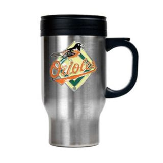 Baltimore Orioles 16 oz Stainless Steel Travel Mug