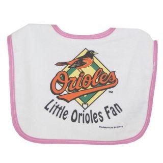 Baltimore Orioles Pink Lil Fan Baby Bib