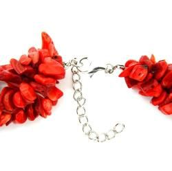 Pearlz Ocean Sterling Silver Red Coral Chips Necklace